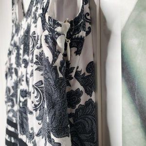 eshakti Dresses - eShakti Graphic Floral Print Contrast Trim Dress